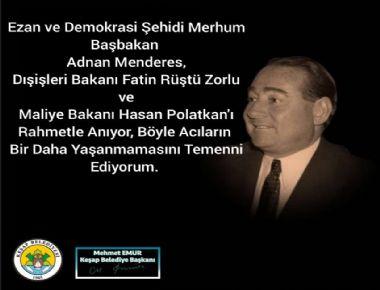 Demokrasiye vurulan darbenin üzerinden  60 yıl geçti