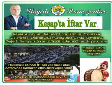 KEŞAP'TA İFTAR VAR