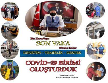 COVİD-19 BİRİMİ OLUŞTURDUK